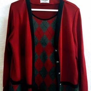 #C16 Alfred Dunner Women's V-neck Sweater